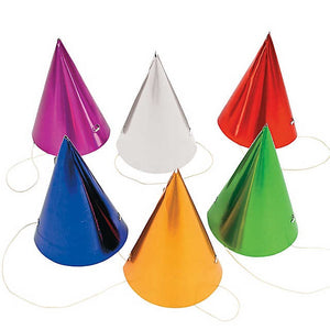 Metallic Party Hat - Foil Cone Hats