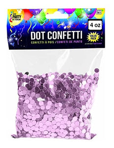 Metallic Round Confetti Dots - Light Pink 4 oz