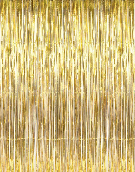 Metallic Foil Curtain Backdrop - Colors Available
