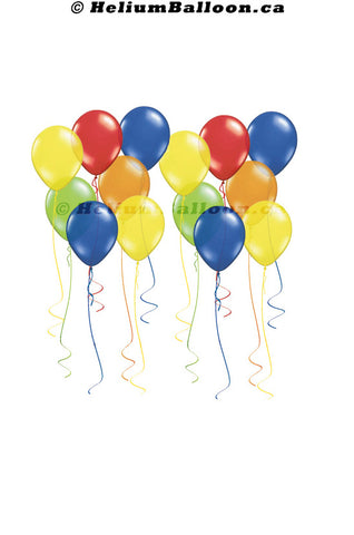50 Latex Ceiling Balloons 9 inches - FLOATING TIME 7 HOURS - ( Colors Available )