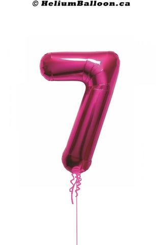 Number-7-fushia-helium-balloon-Montreal-delivery-Livraison-bouquets-de-ballons-Helium-Montreal-chiffre-7-fushia