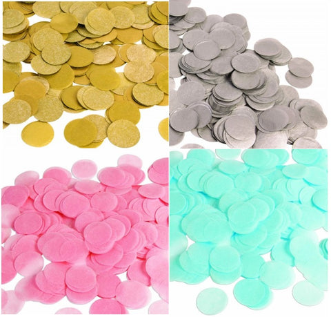 Paper Round Confetti Dots circle Colors Available_0.8oz