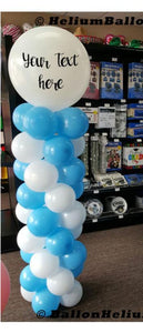 Personalized-Balloon-Column-7-feet-latex-balloons-decoration-outdoor-indoor-Montreal-delivery-Colonnes-de-ballons-Personalisés-7-pieds-decorations-Livraison-Montreal