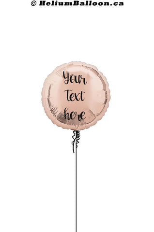 Personalized Round Metallic Balloon 17'' ( Colors Available )