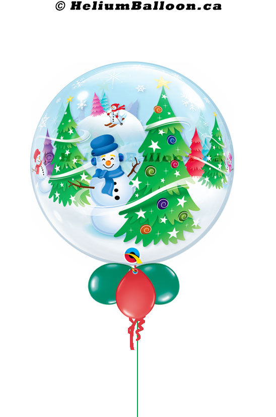 Snowman Christmas Tree bubble balloon 22''