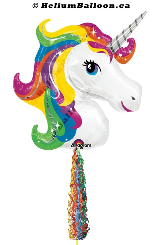 Magical Unicorn helium balloon Montreal delivery Helium balloons bouquets Montreal