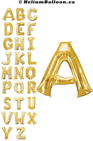 "Make Your Own Balloon Phrase - Gold Letters 34"" - Helium Filled"