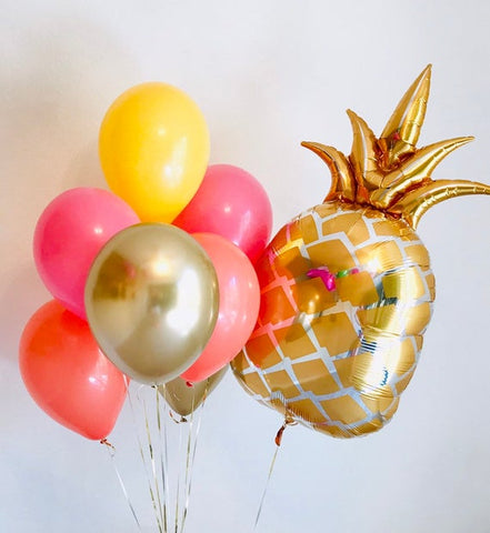 Bouquet 6 Balloons 11''- Golden Pineapple