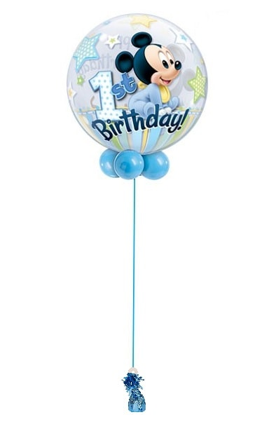 Happy 1 st Birthday Mickey bubble balloon 22''