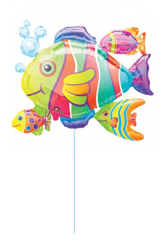 Tropical Fish Multicolored Balloon Super Shape 30''
