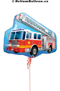 Super Shape Big Fire Truck Balloon 36 inches