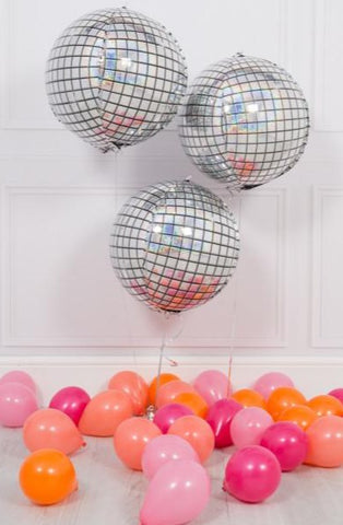 Disco Ball Silver Balloon