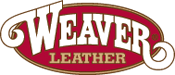 Weaver Leather Straight Shooter Noseband with Burgundy Metallic Overlay