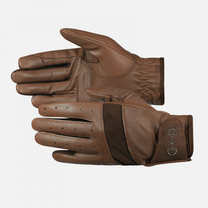 Horze Women's Leather Mesh Riding Gloves