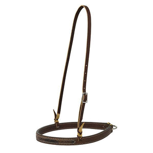 Weaver Leather 30-0127 Stampede Noseband, 1-Inch, Rich Brown Bridle Leather