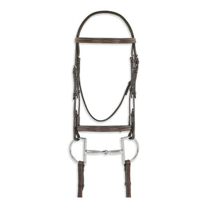 Ovation® Classic Collection- Fancy Raised Comfort Crown Padded Bridle with Fancy Raised Laced Reins