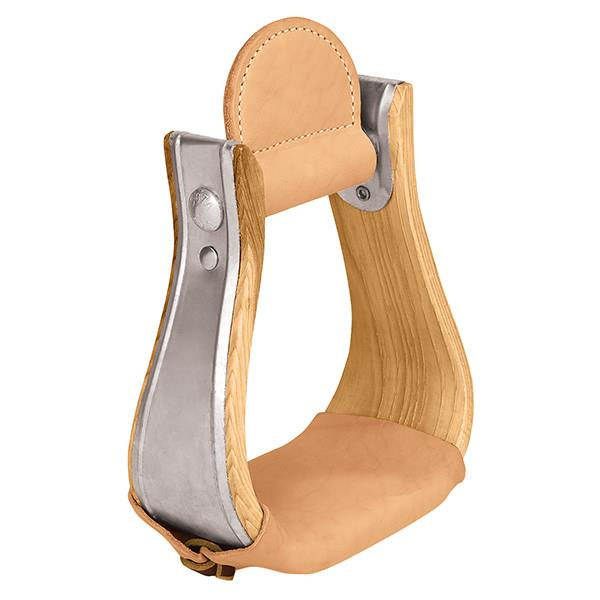 Wooden Stirrups with Leather Treads, Bell