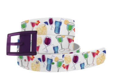 C4 5 O'Clock Somewhere Belt with Plum Buckle