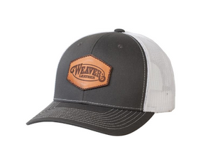 Weaver Gray Cap with Leather Patch