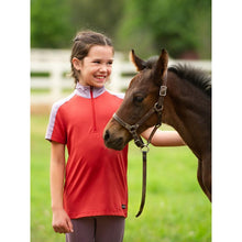Load image into Gallery viewer, Kids Ice Fil® Lite Short Sleeve Riding Shirt - 2 Tone