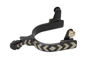 Weaver Ladies' Spur with German Silver Chevron Trim