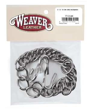 Weaver English Curb Chain with Hooks, Stainless Steel