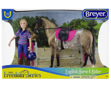 Load image into Gallery viewer, Breyer English Horse and Rider