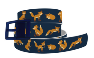 C4 Belt ETA Playing Foxes Navy Belt with Navy Buckle