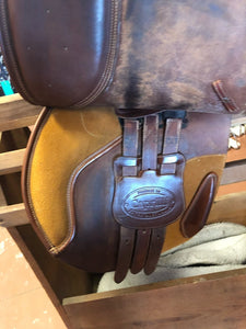 Bates Caprilli Close Contact Saddle 17""