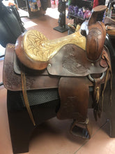 Load image into Gallery viewer, Western Cutting Saddle 15 inch seat