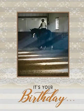 Load image into Gallery viewer, Horse Hollow Lace Birthday Card