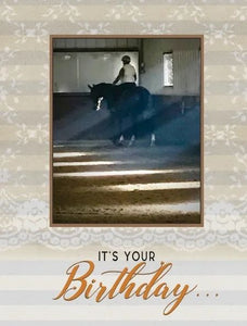 Horse Hollow Lace Birthday Card