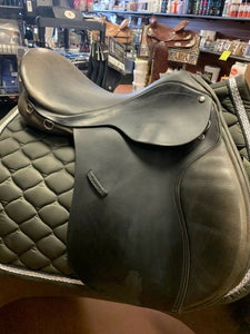 "County Eventer Close Contact Jump Saddle, 17.5"" seat, MED TREE W/ SKID ROW"