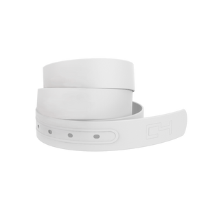 C4 White Belt with White Standard Buckle