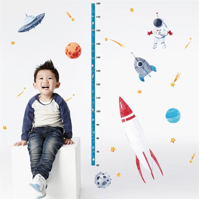 OMNIDEM Young Astronaut Watercolour Wall Stickers