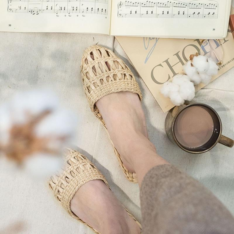 OMNIDEN AGEA Woven Cane Slippers