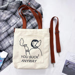 Load image into Gallery viewer, OMNIDEN YOU SUCK ANYWAY COCO Tote Bag