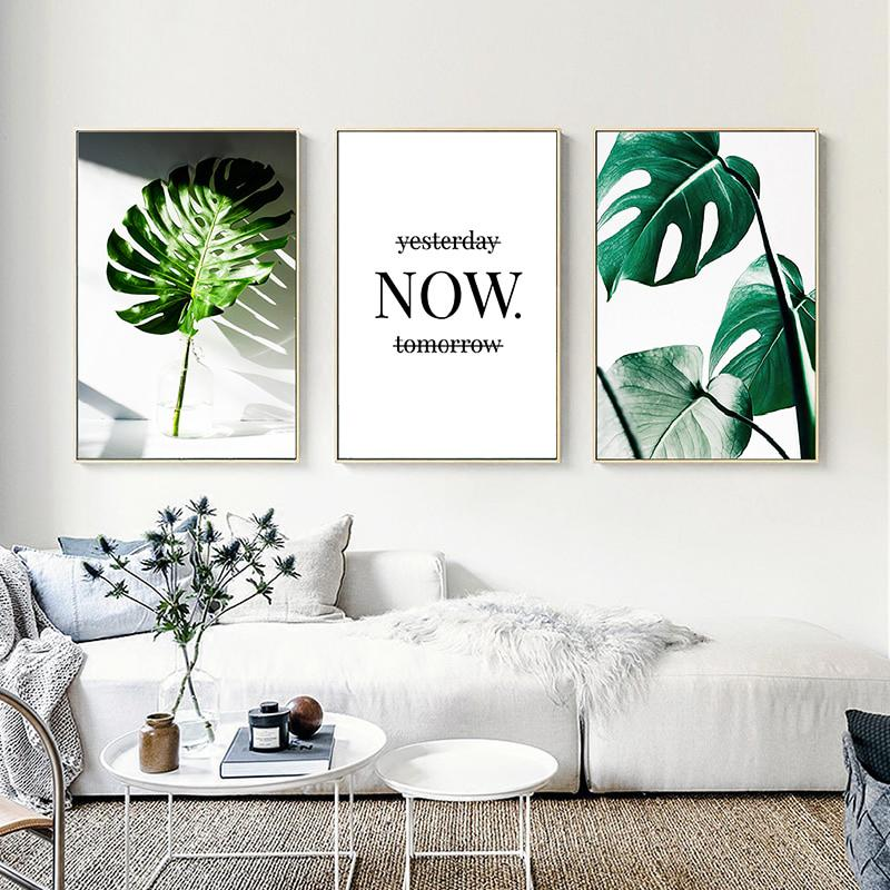 OMNIDEN 40x50cm / Set of 3 GRØNN Canvas Prints