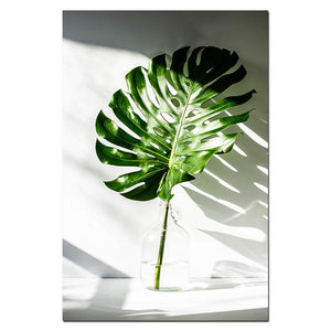 OMNIDEN 40x50cm / MONSTERA A GRØNN Canvas Prints