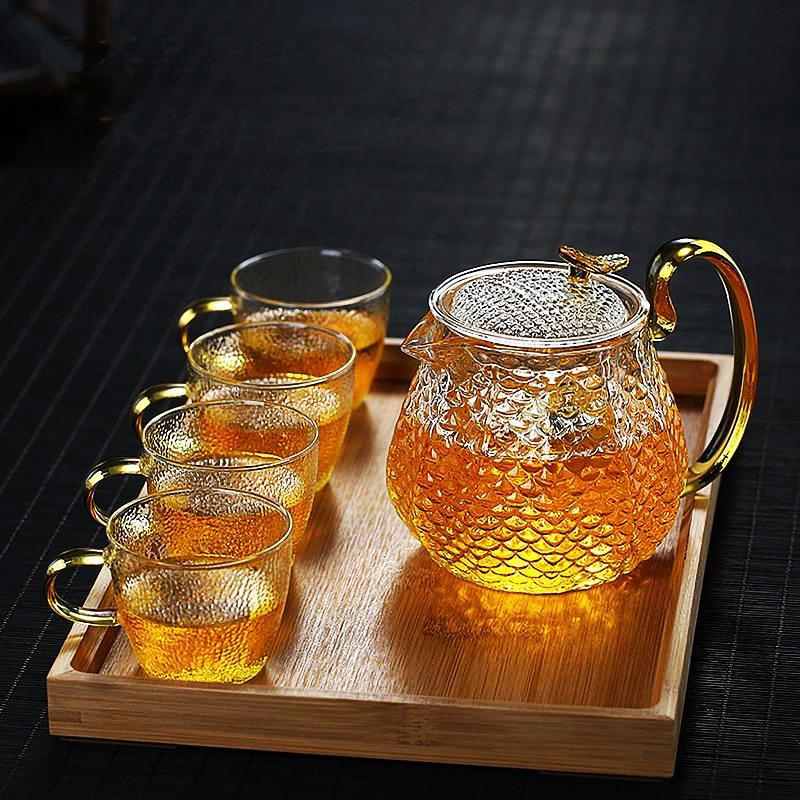 OMNIDEN Tea Set Veronica Borosilicate Glass Tea Set
