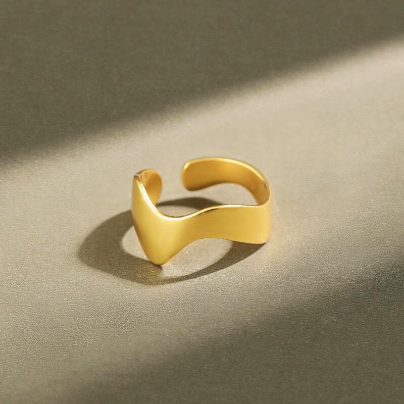 OMNIDEN Gold Plated VÅG Silver & Gold Ring