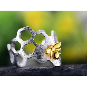 OMNIDEN LOTUS Silver & Gold Bee Ring