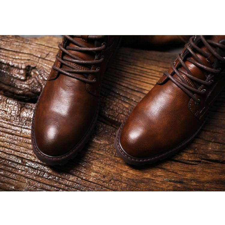 OMNIDEN Brown / 8.5 Axel Leather Boot