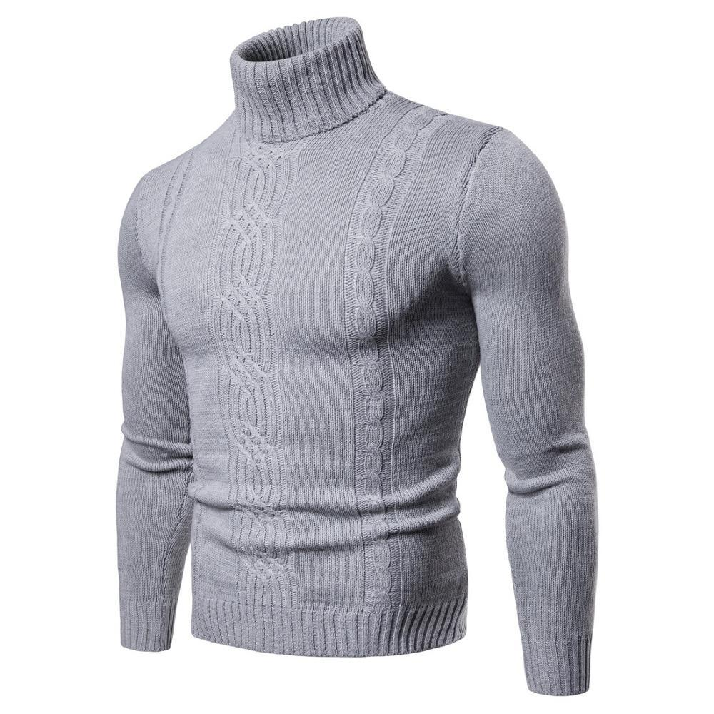 OMNIDEN Gray / S Milano Turtleneck Jumper