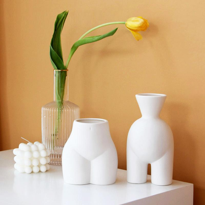 OMNIDEN Set of Two ELLA Ceramic Vase Series