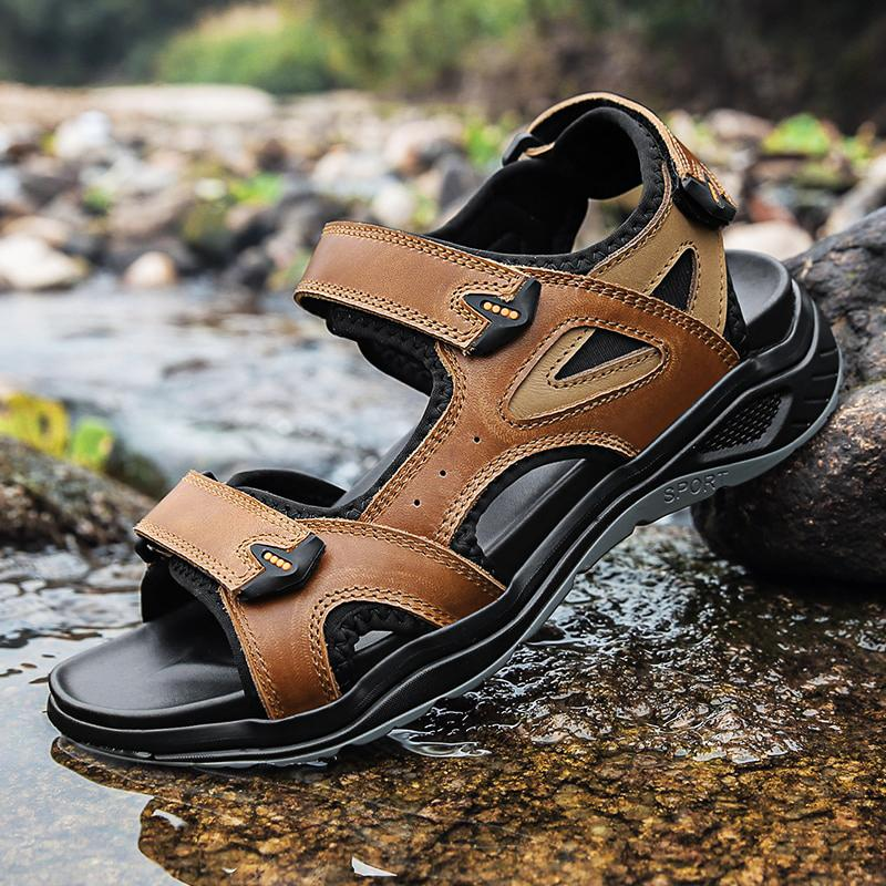 OMNIDEN Brown / 13 QUAD All-Terrain Leather Sandals