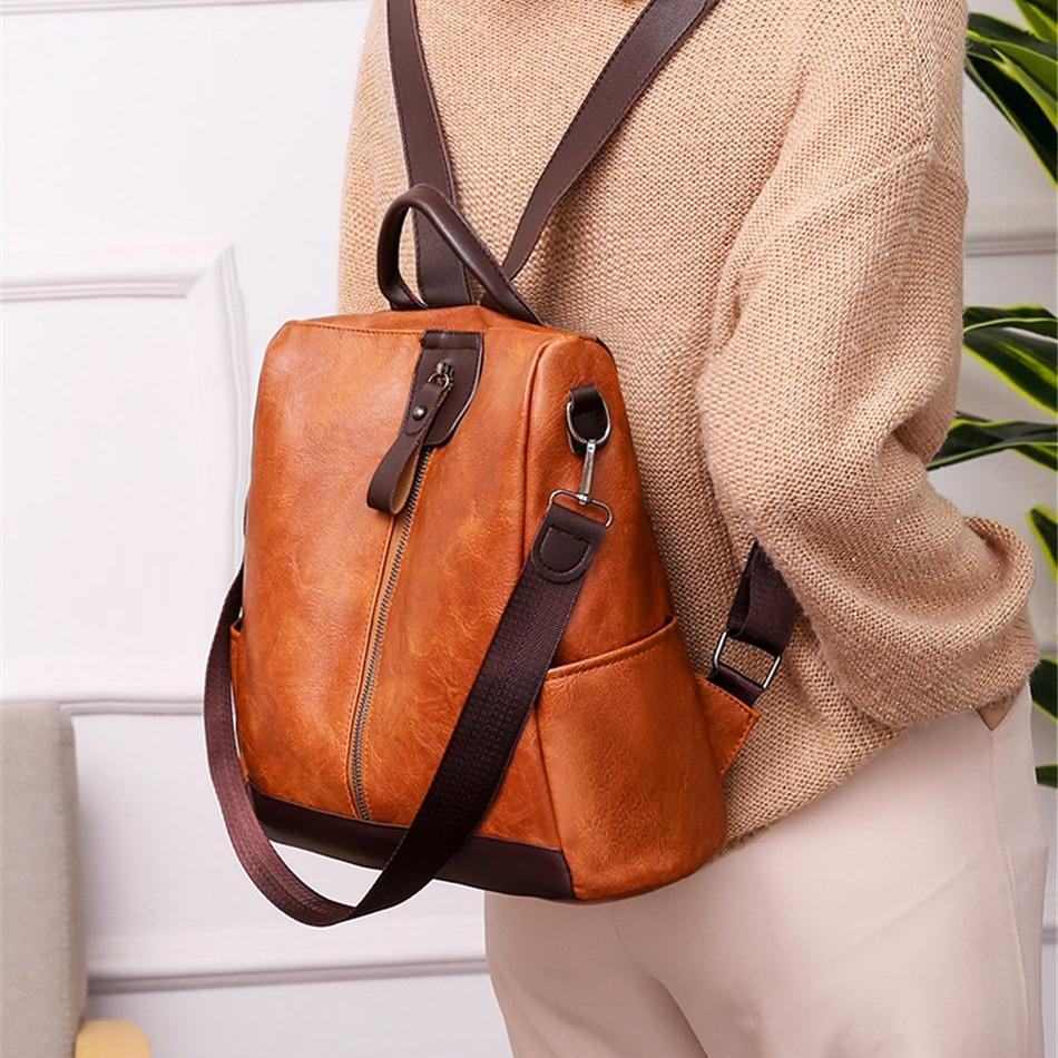 OMNIDEN Brown ALINA Backpack Shoulder Bag