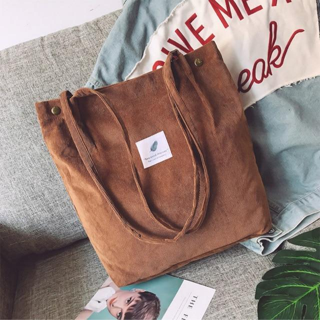 OMNIDEN Brown Lynne Corduroy Shoulder Bag