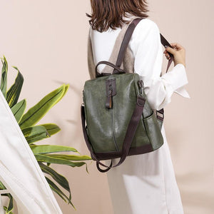 OMNIDEN Green ALINA Backpack Shoulder Bag