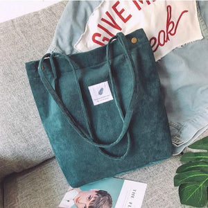 OMNIDEN Green Lynne Corduroy Shoulder Bag